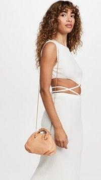 Hereu Bombon Bag Almond | luxe mini handbags | small top handle crossbody bags