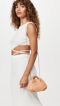 Hereu Bombon Bag Almond   luxe mini handbags   small top handle crossbody bags - flipped