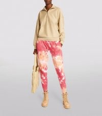 LA DETRESSE L'Orange Sweatpants / tie dye joggers / womens cuffed jogging bottoms
