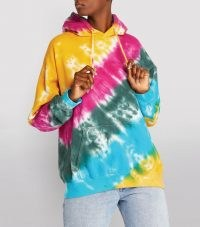 LA DETRESSE Strawberry Fields Hoodie / women's multicoloured pullover hoodies / womens hooded casual tops