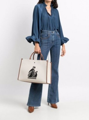 LANVIN In&Out canvas tote bag | chic designer shopper style bags - flipped