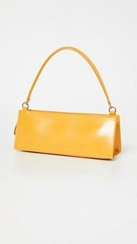 Mansur Gavriel Pencil Bag Golden Yellow | small structured oblong handbags | baguette style bags