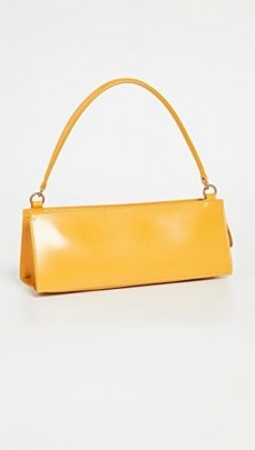 Mansur Gavriel Pencil Bag Golden Yellow   small structured oblong handbags   baguette style bags - flipped