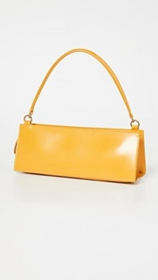 Mansur Gavriel Pencil Bag Golden Yellow   small structured oblong handbags   baguette style bags