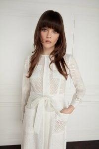 jane Atelier MAYFLOWER SHEER SPOT DRESS / chic long sleeve tie waist dresses / goat fashion