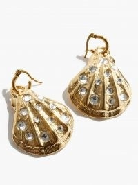 BY ALONA Summer Nights crystal & gold-plated earrings / ocean inspired jewellery / shells