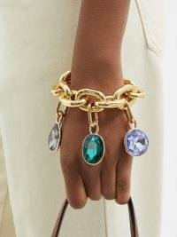 PACO RABANNE XL Link pendant bracelet ~ chunky crystal and chain bracelets ~ womens designer statement jewellery