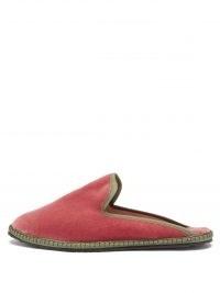 VIBI VENEZIA Backless pink velvet furlane slippers