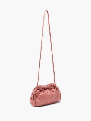 MANSUR GAVRIEL Cloud mini pink leather cross-body bag ~ gathered detail crossbody bags - flipped