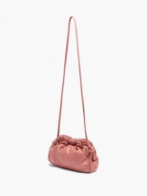 MANSUR GAVRIEL Cloud mini pink leather cross-body bag ~ gathered detail crossbody bags