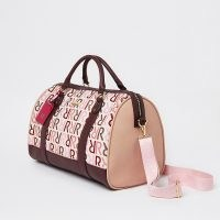 RIVER ISLAND Pink RI branded barrel bag ~ oblong top handle bags