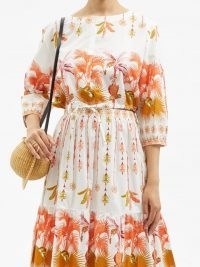 LE SIRENUSE, POSITANO Jinny Winter Garden-print cotton cropped top / womens crop hem summer tops