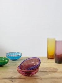 LA DOUBLEJ X Salviati set of four glass nut bowls ~ multicoloured glassware ~ coloured Murano dishes