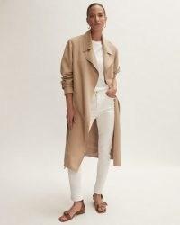 Jigsaw RAE FLUID TRENCH   classic lightweight beige tie waist coats