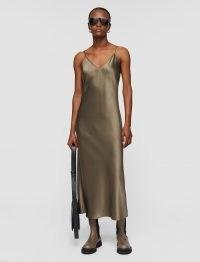 JOSEPH Silk Satin Clea Dress ~ spaghetti strap slip dresses ~ cami straps ~ elegant fluid fabric fashion
