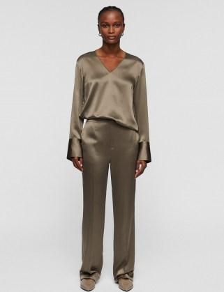 joseph Silk Satin Tova Trousers ~ womens lightweight fluid fabric trousers ~ - flipped