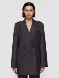 JOSEPH Tailoring Wool Joni Jacket ~ womens luxury longline double breasted jackets