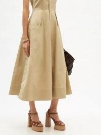 CHRISTIAN LOUBOUTIN Foolanjalili 130 tan leather platform sandals ~ brown retro platforms ~ womens vintage style chunky heels ~ women's 70s look footwear