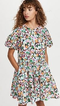 Tanya Taylor Lily Dress | floral print puff sleeve dresses | romantic fashion | womens clothing from shopbop