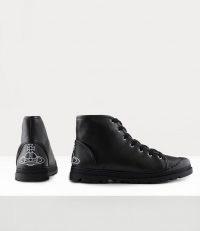VIVIENNE WESTWOOD WOMEN'S SIMIAN BOOTS BLACK ~ womens lace up orb motif ankle boots