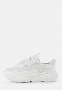 MISSGUIDED white faux suede panelled chunky trainers ~ on trend sneakers ~ womens fashionable sporty footwear