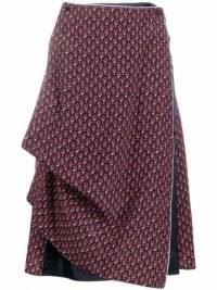 Y/Project floral-print draped skirt | asymmetric drape detail skirts