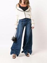 Y/Project Pavillon wide-leg jeans | womens ruched designer denim