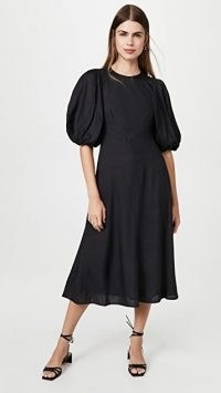 Zimmermann Day Midi Dress Black | puff sleeve dresses