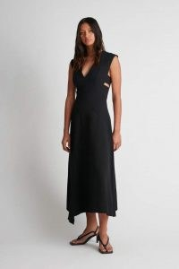 CAMILLA AND MARC Aberdeen Dress in black ~ chic cut out detail LBD ~ sleeveless asymmetric hemline occasion dresses ~ minimalist event fashion ~ womens effortless style clothing