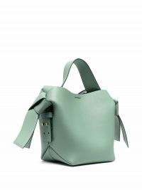 Acne Studios mini Musubi bag in sage green | boxy shape handbags