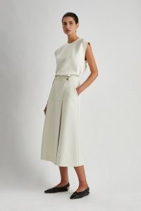 CAMILLA AND MARC Amaia Skirt in Ecru ~ chic A-line wrap style skirts ~ womens minimalist fashion ~ women's effortless style clothing
