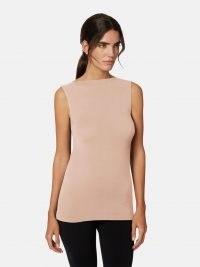 Wolford AURORA TOP ~ light pink sleeveless minimalist tops ~ sustainable fashion