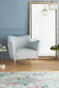 Humphrey Wingback Chair in Sky ~ stylish armchairs ~ chic living room chairs ~ stylish home furniture
