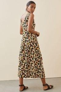 Farm Rio Leopard Wide-Leg Jumpsuit / sleeveless animal print crop hem jumpsuits