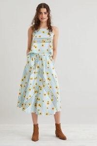 Resume Feline Midi Skirt / organic cotton floral print skirts