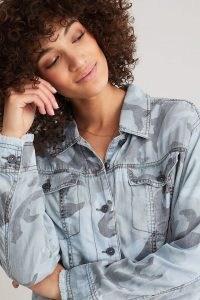 Marrakech Denim Camo-Print Jacket – women's camouflage print denim jackets