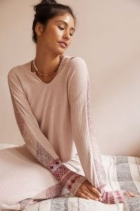 Daily Practice by Anthropologie Contrast-Sleeve Jumper / loungewear jumpers / lounge fashion