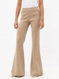RAEY Flared-leg virgin-wool trousers in beige