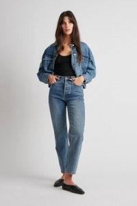 CAMILLA AND MARC Betty Denim Jean in Worn Wash ~ women's high rise waist crop leg jeans ~ womens cropped blue jeans