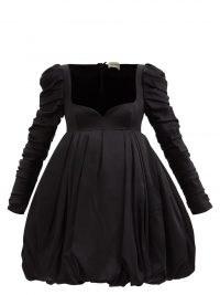 KHAITE Katia sweetheart-neckline bubble satin mini dress | LBD | puffball hem dresses | plunge front party dresses | womens designer occasion fashion | voluminous evening event wear
