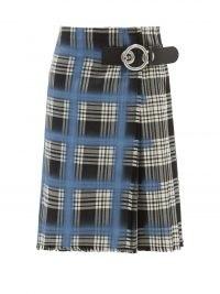 MARNI Spray-paint tartan wool-twill kilt skirt / womens designer fashion kilts / women's plaid skirts