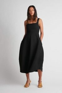 CAMILLA AND MARC Brae Dress in Black ~ chic sleeveless square neck LBD ~ essential minimalist evening dresses ~ effortless style occasion fashion