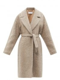 RAEY Belted wool-blend coat in light brown ~ women classic tie waist winter coats ~ women's chic outerwear