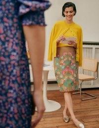 Boden Caitlin Embroidered Skirt Camel / light brown floral cotton skirts