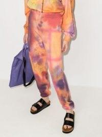 Collina Strada Desert tie-dye track pants / womens multicoloured sweatpants / cuff leg joggers / women's cuffed jogging bottoms