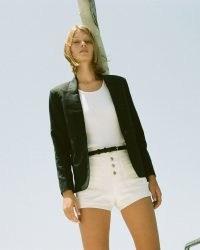 NILI LOTAN CREAM MOLLIE SHORT   womens neutral denim shorts