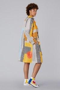 Ellen Rutt x Gorman 21 DAYS SPRAY TRENCH COAT   womens abstract print coats