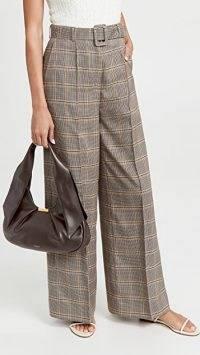 DeMellier Midi Milan Bag in espresso / chic structured leather bags / stylish pleat detail handbags