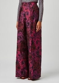 DRIES VAN NOTEN Pamplona floral-jacquard wide-leg trousers – womens luxe designer trousers