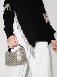 EÉRA Moon crystal tote bag ~ small sparkling handbags / shimmering top handle bags / glamorous accessories